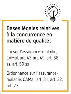Bases légales relatives à la concurrence en matière de qualité :